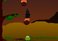 Asteroid-evasion-game-with-dinsaure