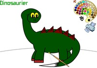 Coloring-game-with-a-dinosaur