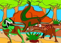 Coloring-game-with-dinosaurs