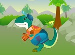 Dress-up-spel-met-een-dinosaurus